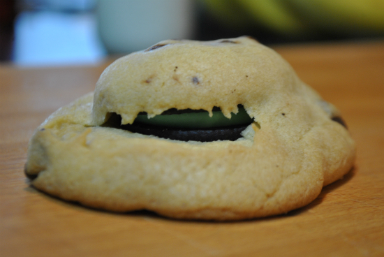 Mint Oreo Inside Chocolate Chip Cookie