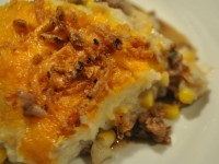Shepard's Pie with Cheese Topping