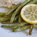 Roasted Lemon Pepper Green Beans
