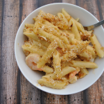 Shrimp Mac and Cheese with White Wine Cheese Sauce