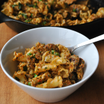 Roasted Red Pepper Pesto with Pasta and Sausage