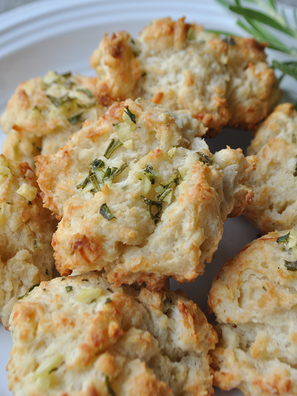 Rosemary and Garlic Drop Biscuits