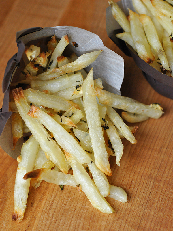 Oven Baked Fries with Rosemary & Parmesan