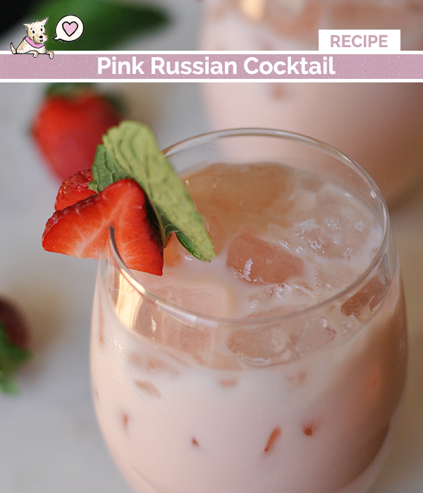 pink russian cocktail